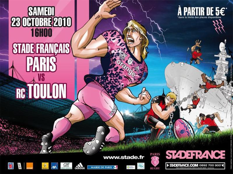 Affiche Stade Français Toulon 2010