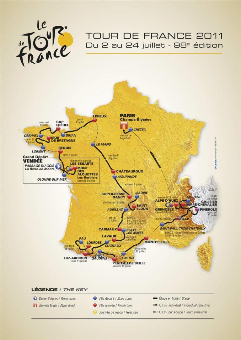 Itinéraire Tour de France 2011