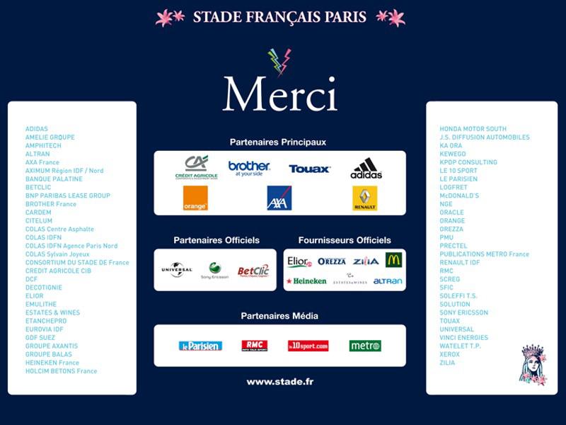 Partenaires Stade Français Sportys
